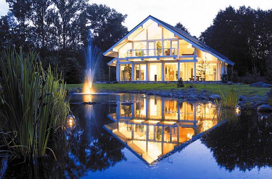 освещение загородного дома, дачи