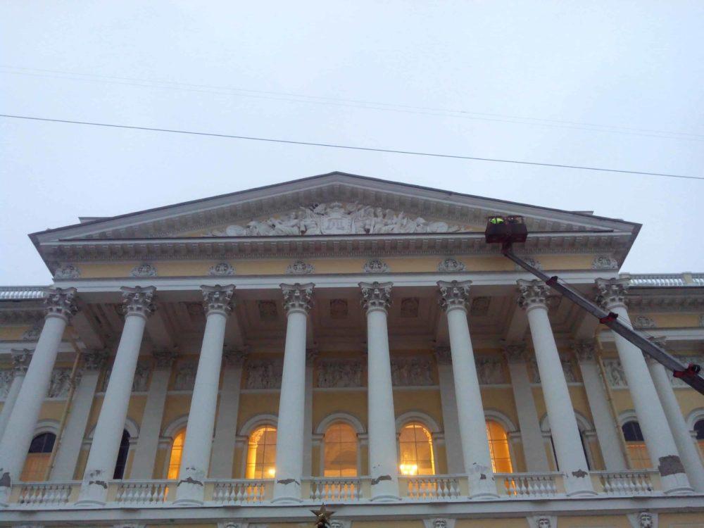 Внешнее освещение Русского музея