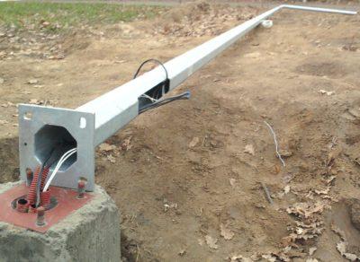Как происходит ремонт мачт освещения