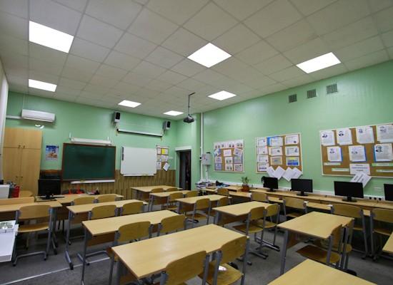 освещение школы